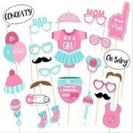 HOT-25-pi-ces-ensemble-fille-Photo-stand-accessoires-b-b-douche-rose-bapt-me-anniversaire