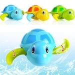 Vente-unique-mignon-dessin-anim-Animal-tortue-classique-b-b-eau-jouet-infantile-nager-tortue-enroul