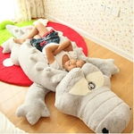 Grande-taille-Crocodile-couch-Section-en-peluche-oreiller-tapis-en-peluche-Crocodile-doux-peluche-Animal-jouet