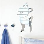 Acrylique-miroir-effet-Mural-autocollant-lapin-fauve-nuage-motif-maison-Art-d-co-Style-mur-autocollant