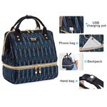 sac bleu détails
