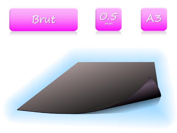 Feuille magnétique brut - 0.5mm - A3