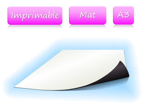 Papier magnétique imprimable - Blanc Mat - format A3