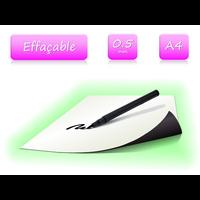 Feuille ferreuse blanc effaçable - format A4