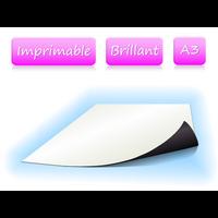 Papier magnétique imprimable - Blanc Brillant - format A3