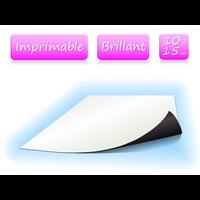 Papier magnétique imprimable - Blanc Brillant - format 10x15 cm