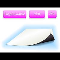 Papier magnétique imprimable - Blanc Mat - format A4