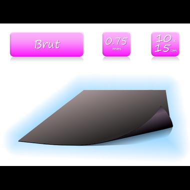 Feuille magnétique brut - 0.75mm - 10x15cm