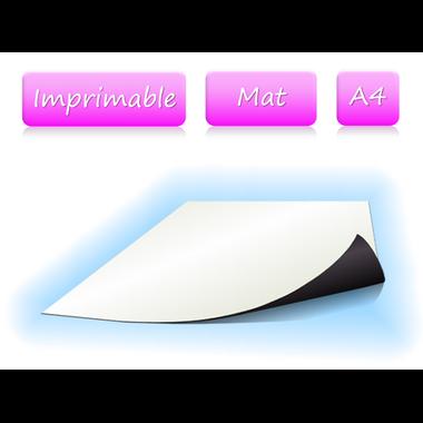 Papier magnétique imprimable - mat - A4