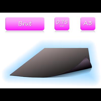 Feuille magnétique brute - format A3 - ép. 0.75mm
