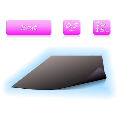 Feuille magnétique brute - format 10x15 cm - ép. 0.5mm