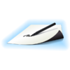 Feuille magnétique blanc effaçable