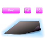 Feuille magnétique brute - largeur 61cm - vendu au mètre - ép. 0.5mm
