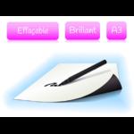 Feuille magnétique effaçable - blanc brillant - format A3