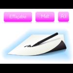 Feuille magnétique effaçable - blanc mat - format A3