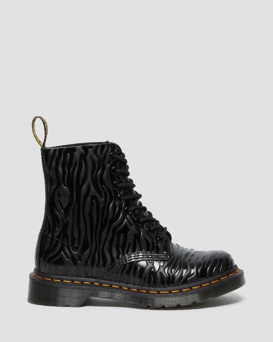 Dr Martens 1460 Pascal Black Zebra Gloss Emboss 26716001  5