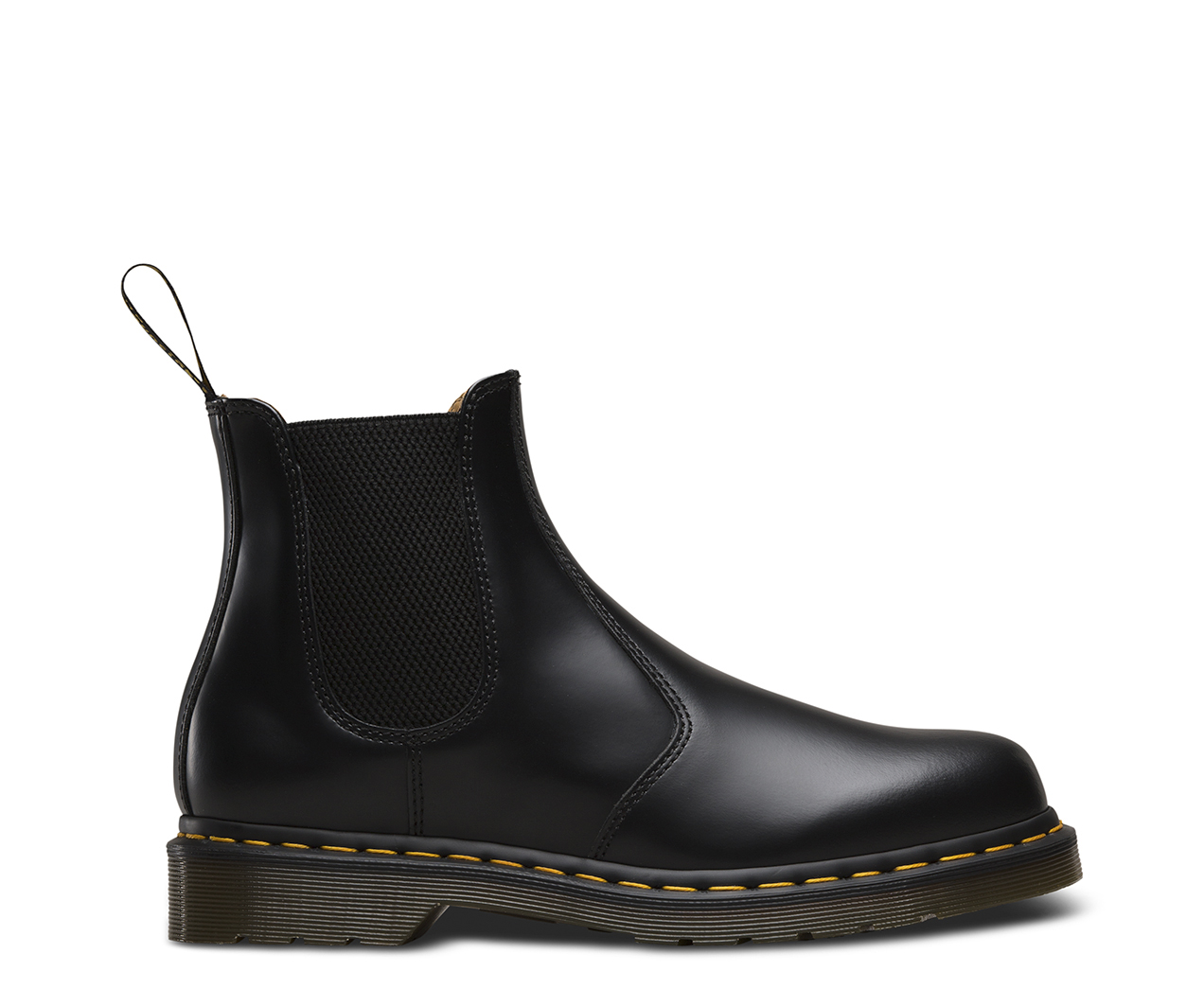 Dr Martens 2976 Yellow Stitch Black Smooth