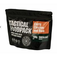 Poulet au curry et riz en ration survie lyophilisée