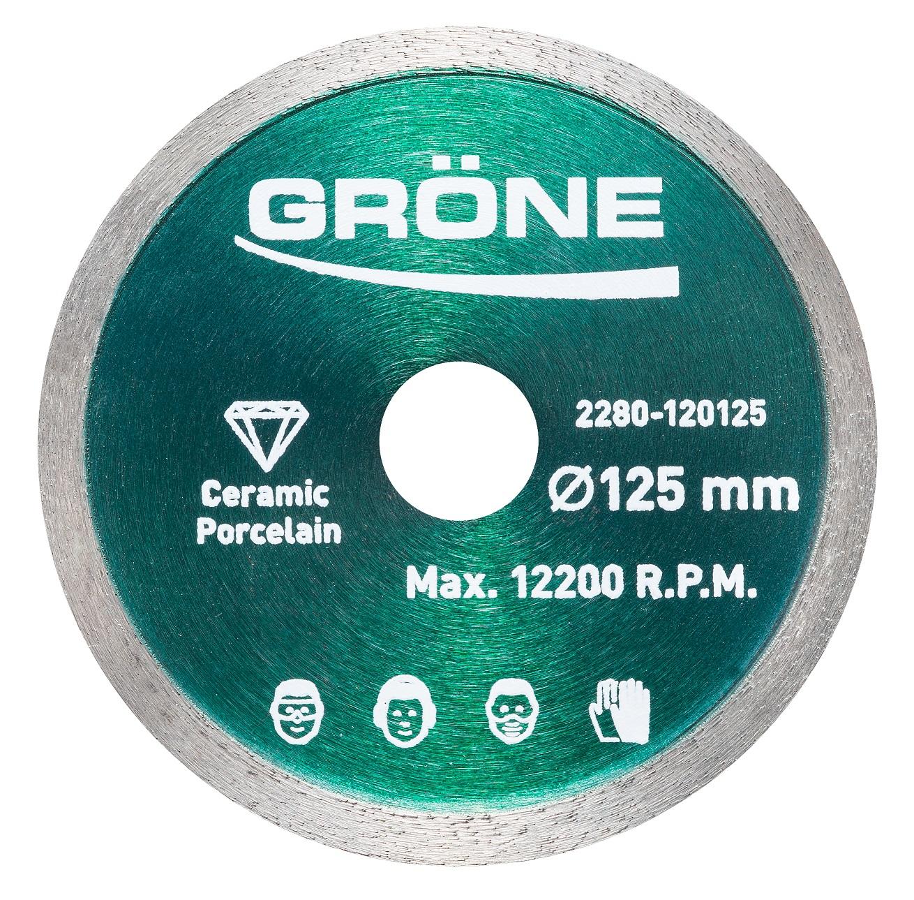 Disque diamanté 125 mm Gröne