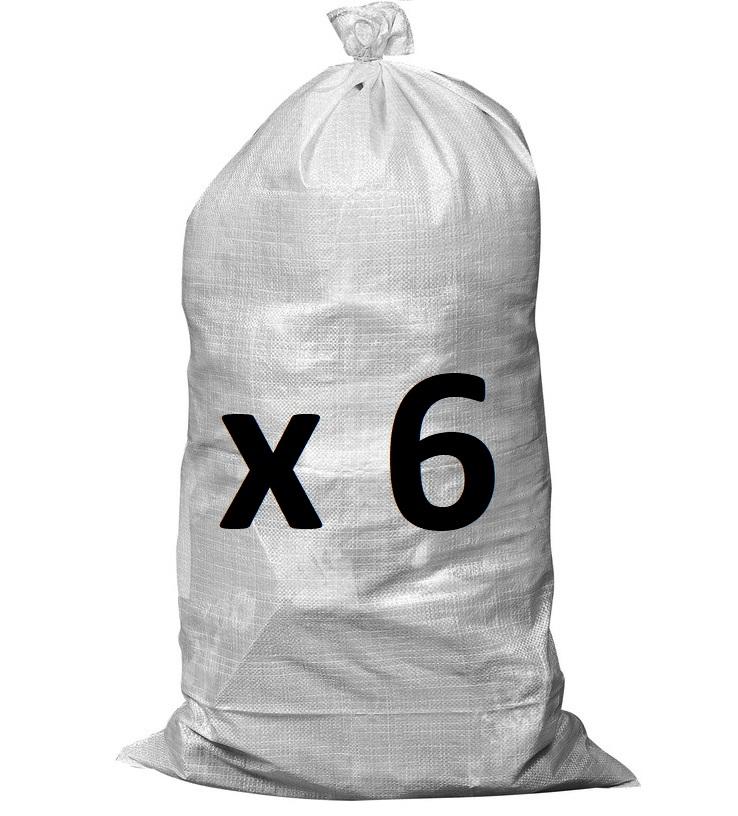 Lot de 6 sacs à gravats