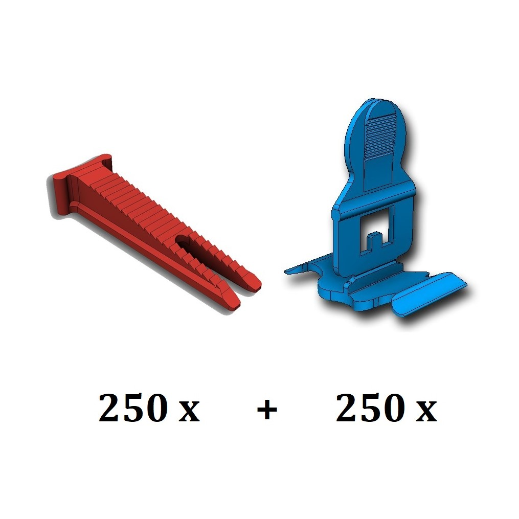 250 clips (bases) et 250 coins (cales) Classic