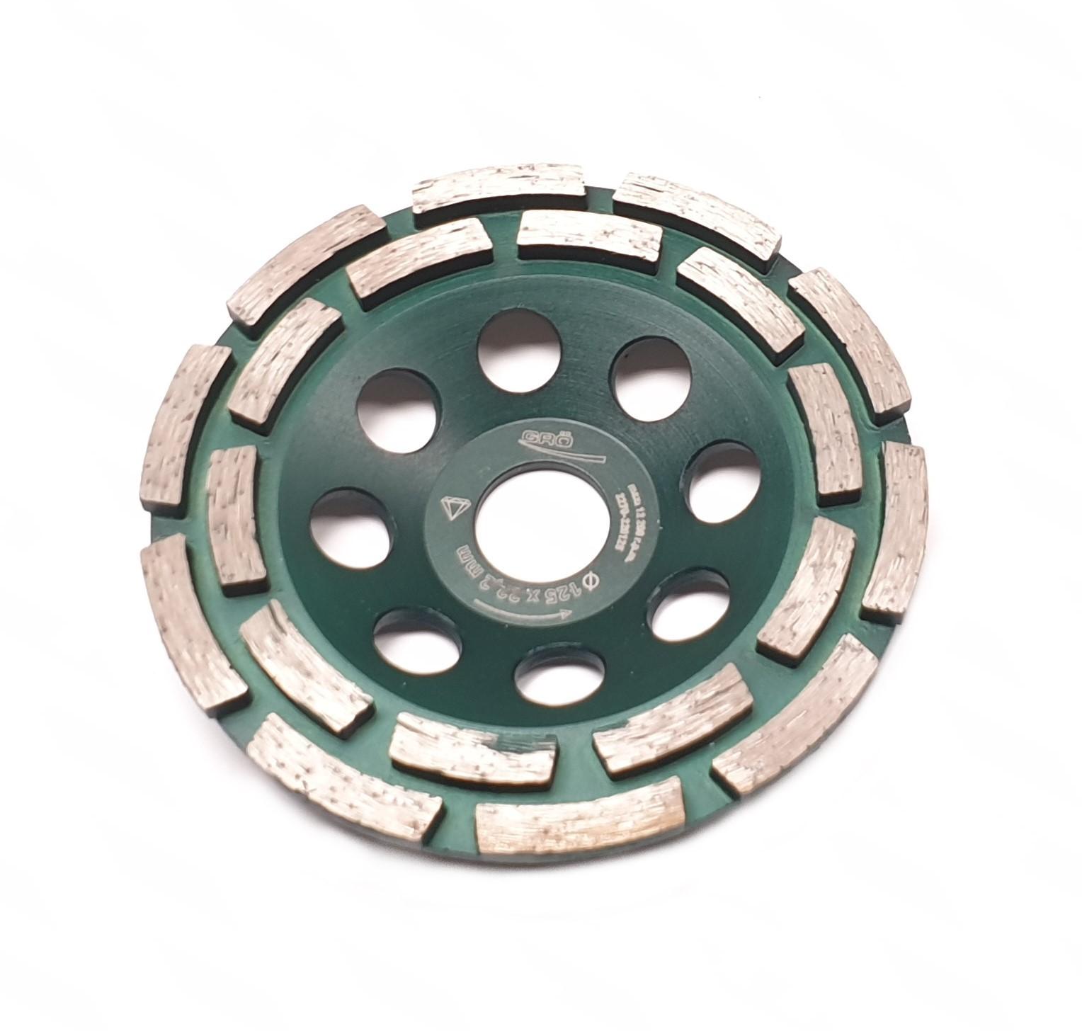 Disque diamanté de surfaçage double piste 125 mm Gröne