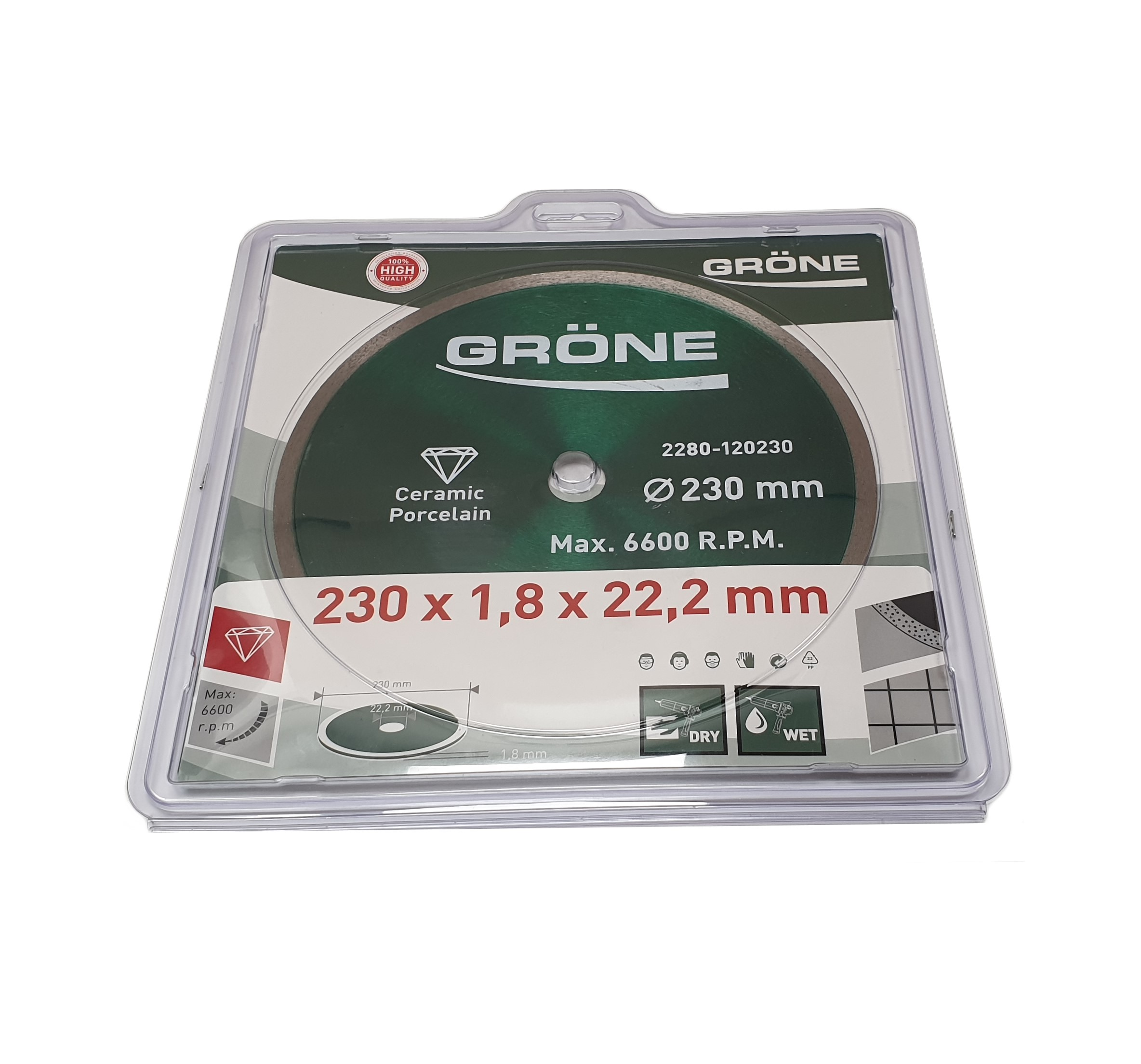 Disque diamanté 230 mm Gröne