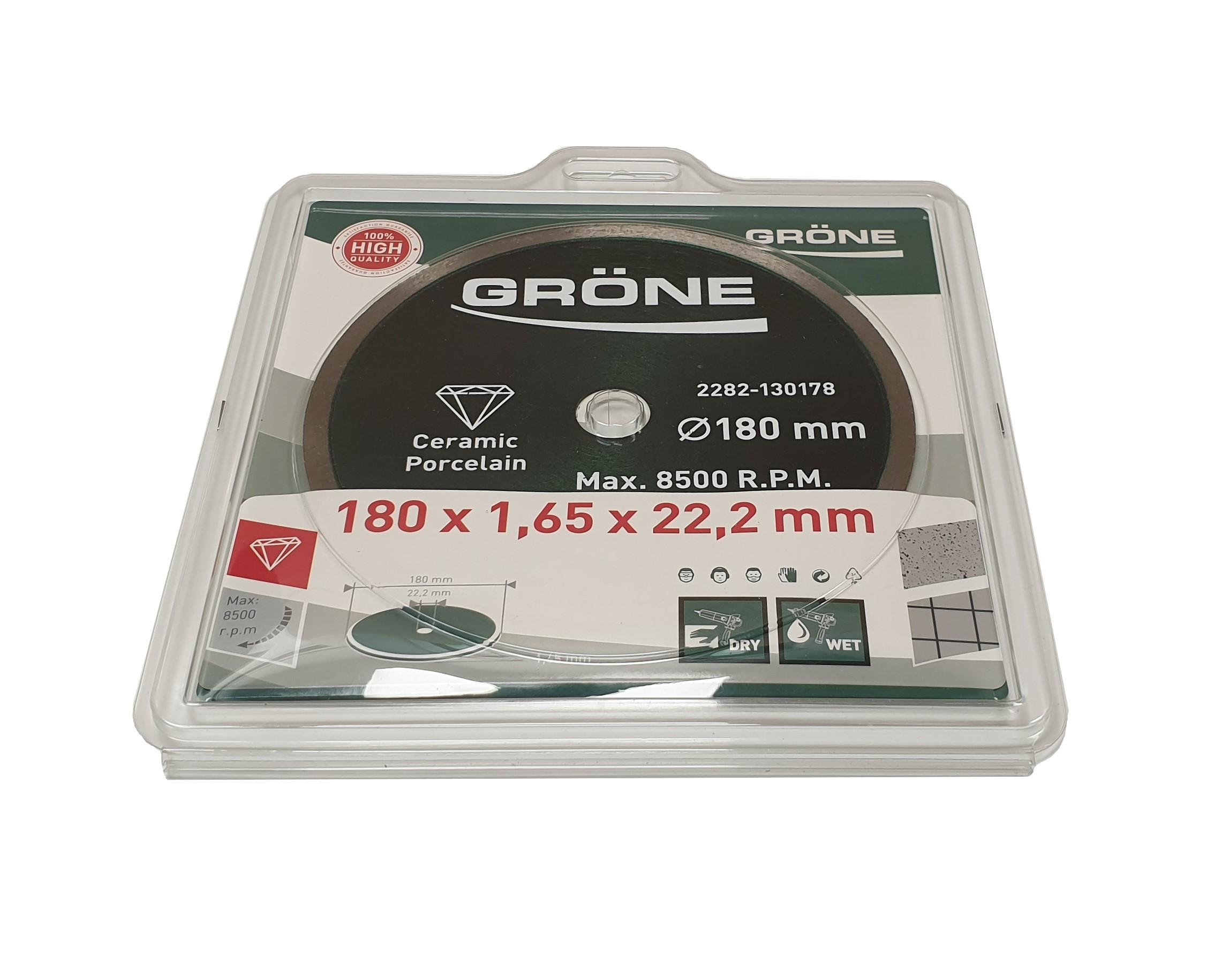 Disque diamanté 180 mm Gröne