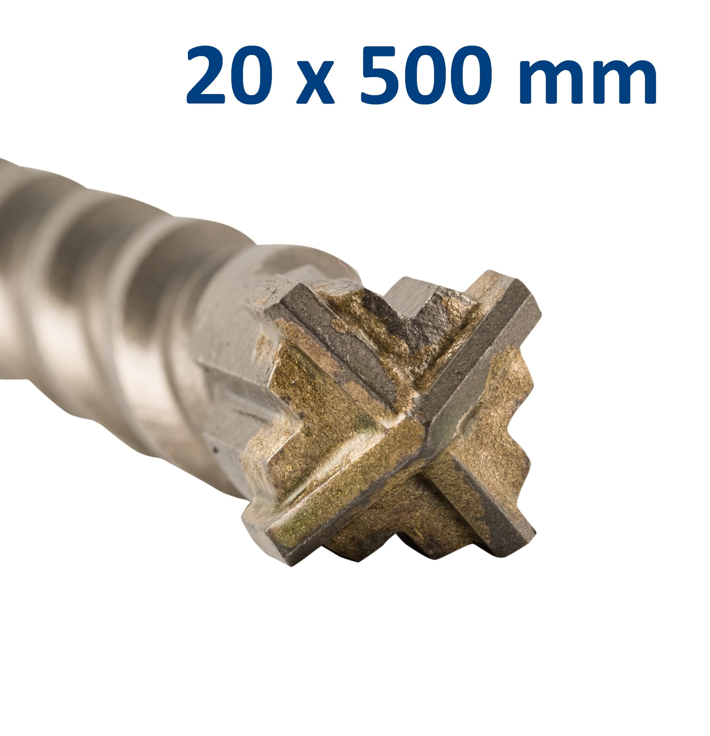 Foret-mèche SDS Plus pointe en croix 20x500 mm