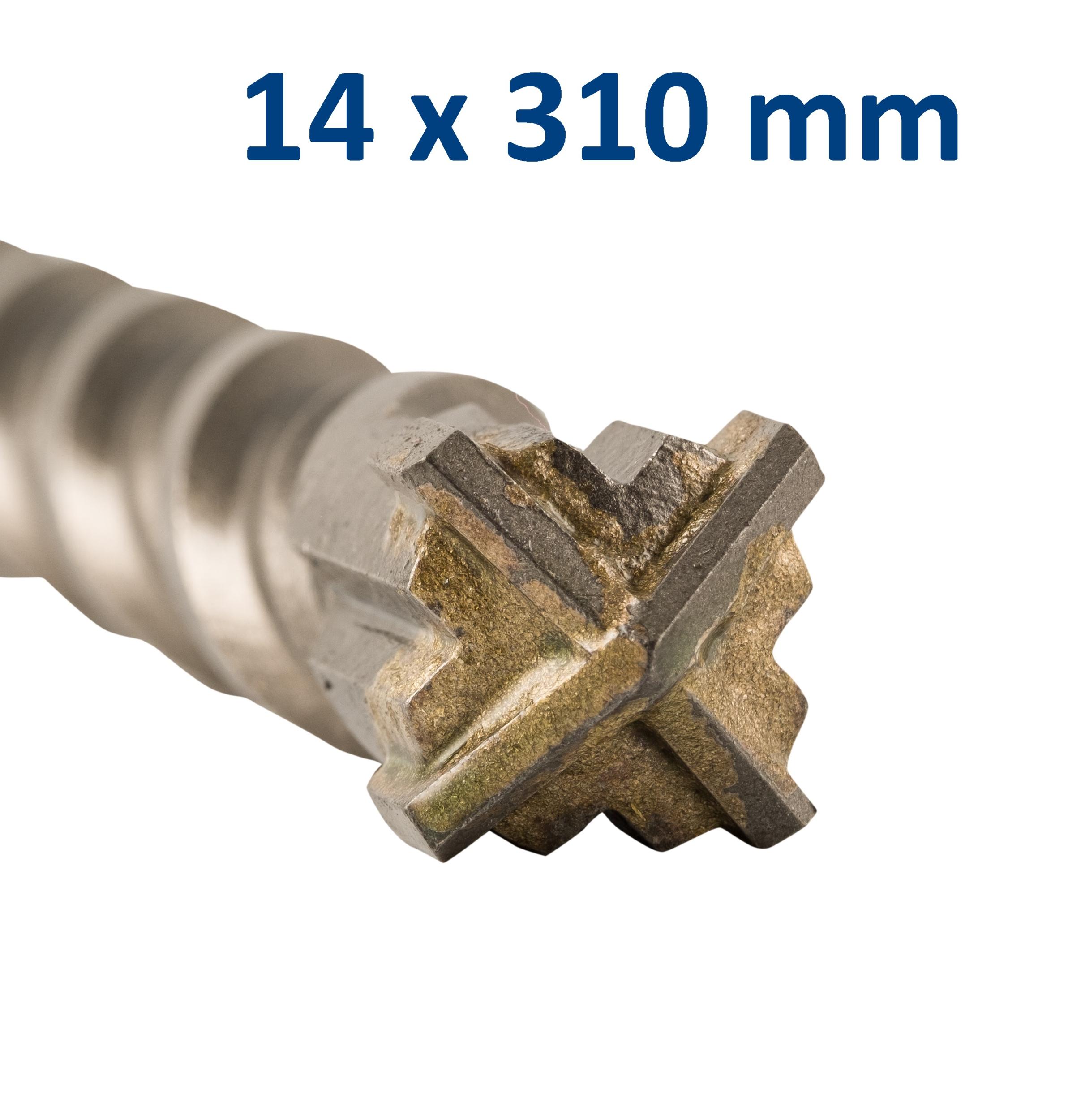Foret-mèche SDS Plus pointe en croix 14x310 mm GRÖNE