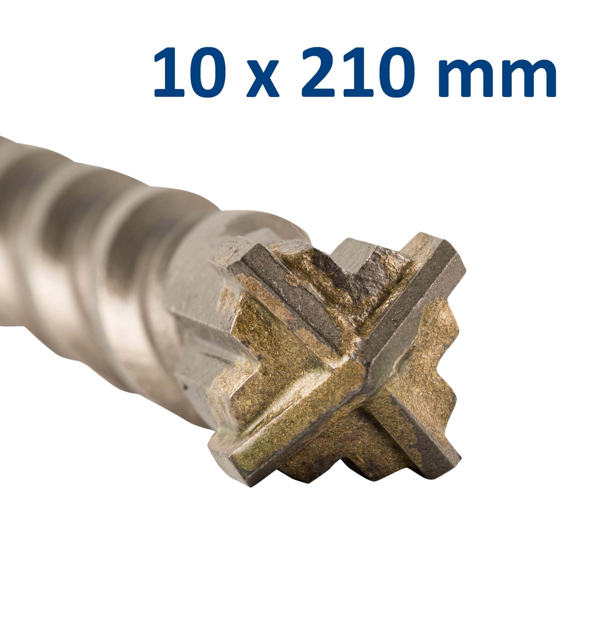 Foret-mèche SDS Plus pointe en croix 10x210 mm