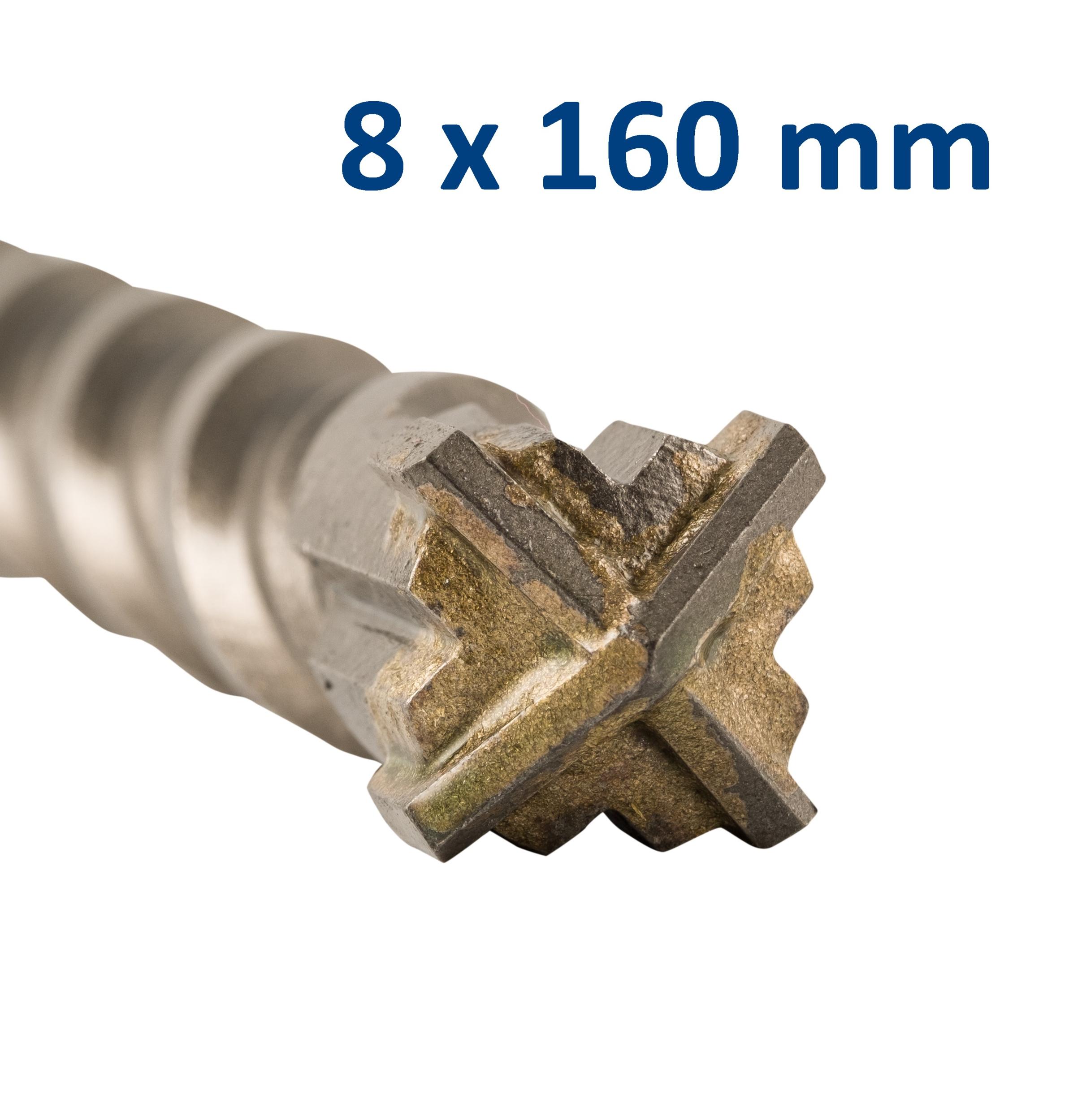 Foret-mèche SDS Plus pointe en croix 8x160 mm