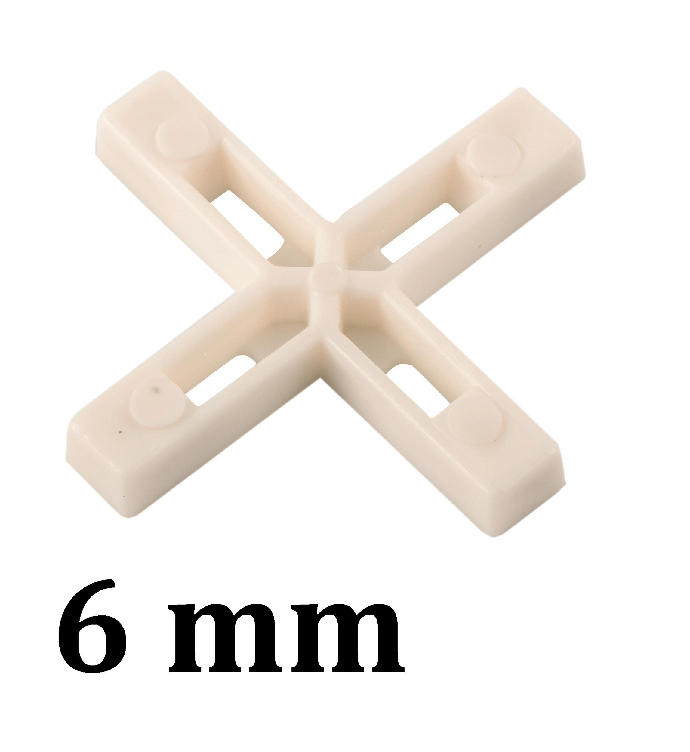 Croisillon carrelage 6 mm, en croix