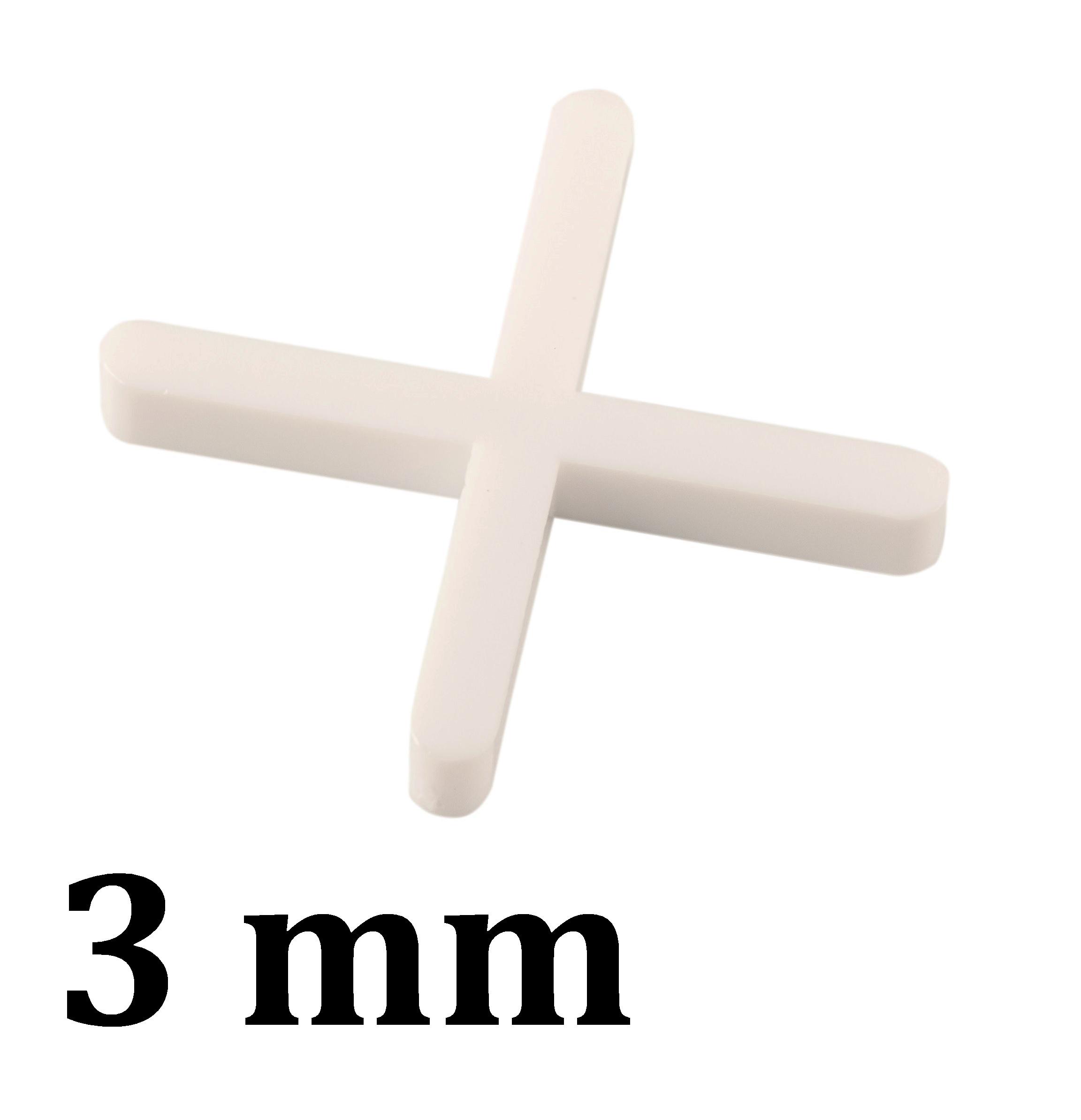 Croisillon carrelage 3,0 mm, en croix