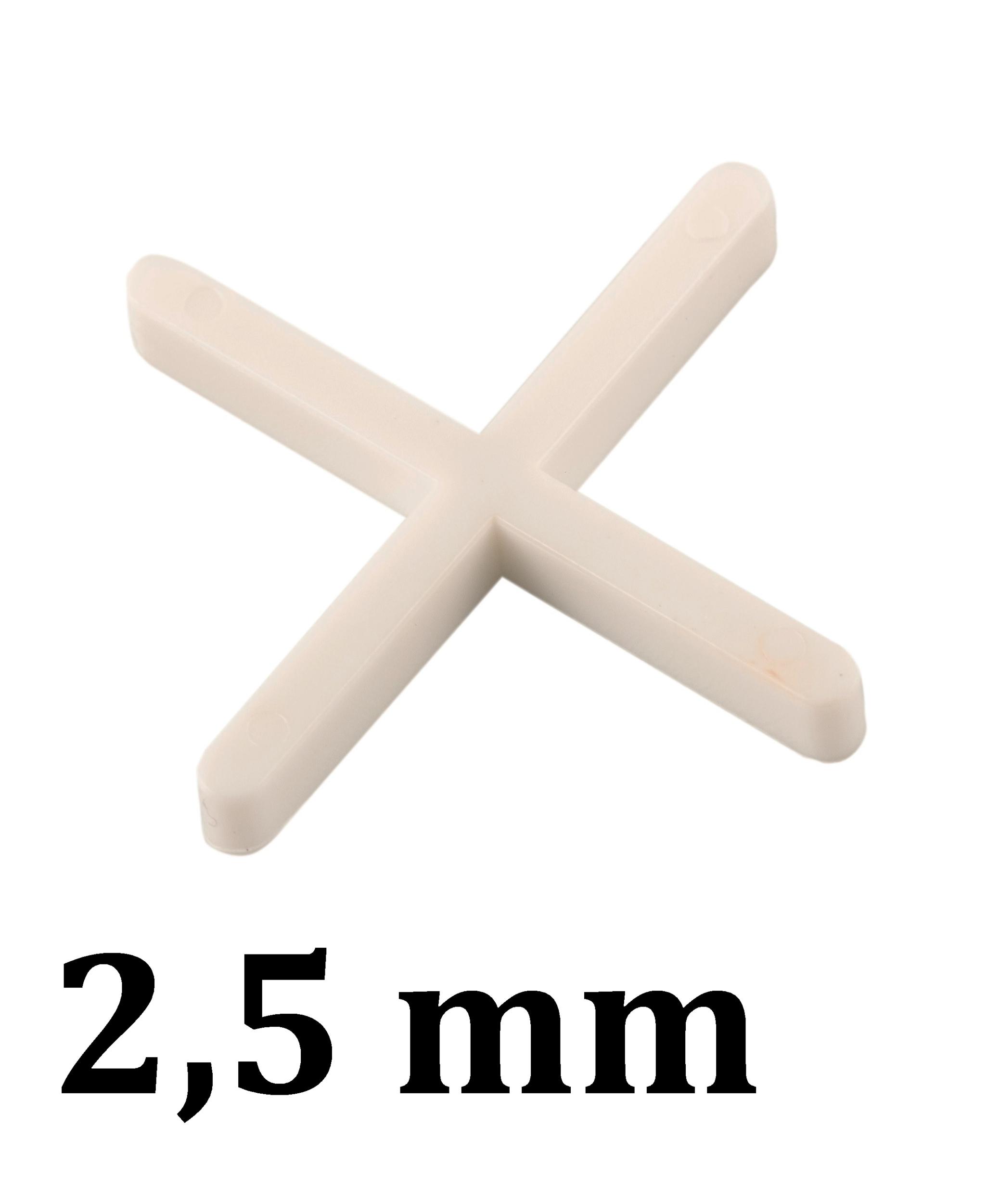 Croisillon carrelage 2,5 mm, en croix
