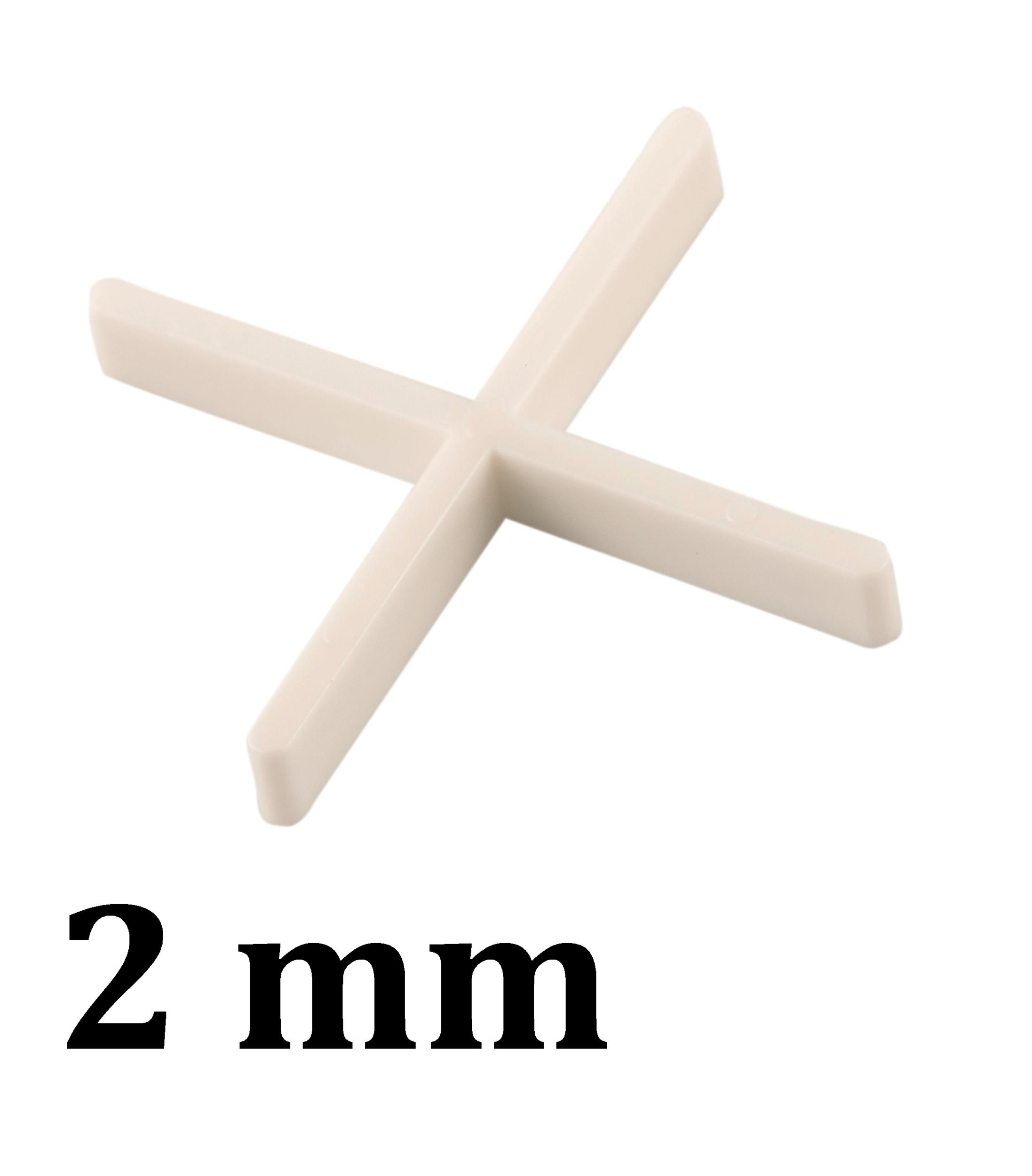 Croisillon carrelage 2,0 mm, en croix