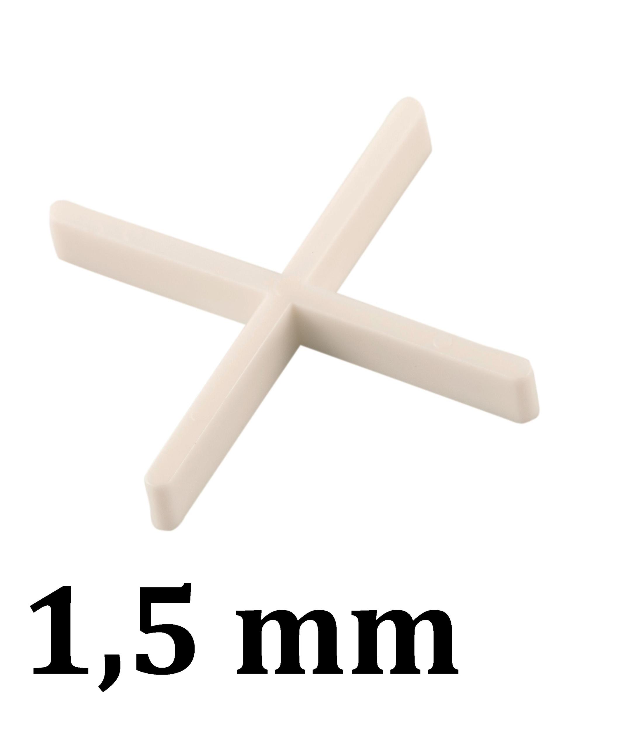 Croisillon carrelage 1,5 mm, en croix