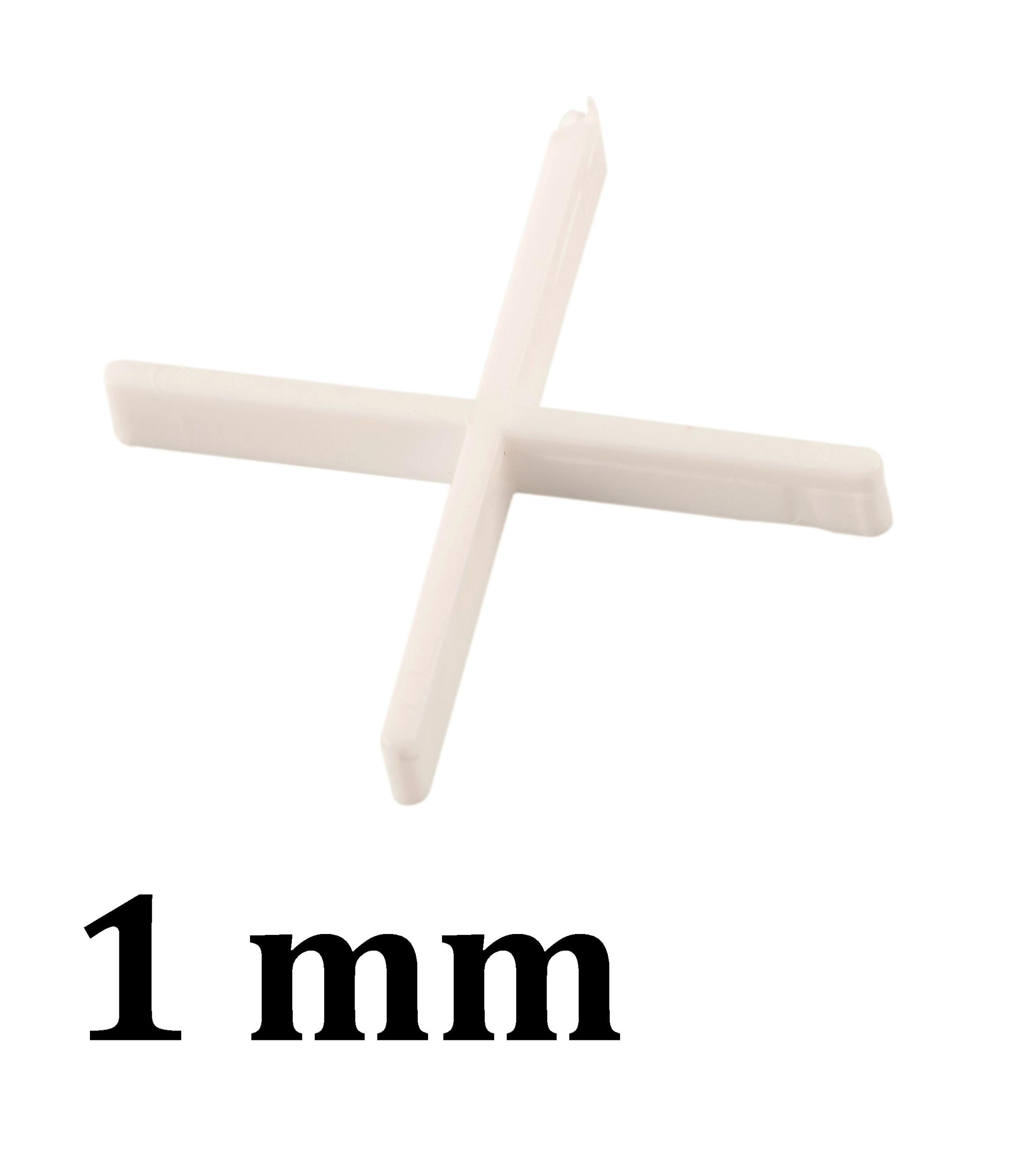 Croisillon carrelage 1.0 mm, en croix
