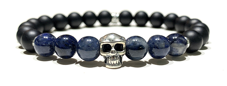 Skull Dumortierite 8mm