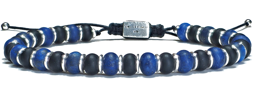 Bracelet Homme Lapis Lazuli & Onyx