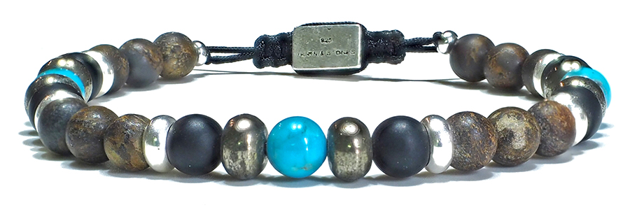 Bracelet-Homme-Perles-Arizona-Turquoise-Kingman