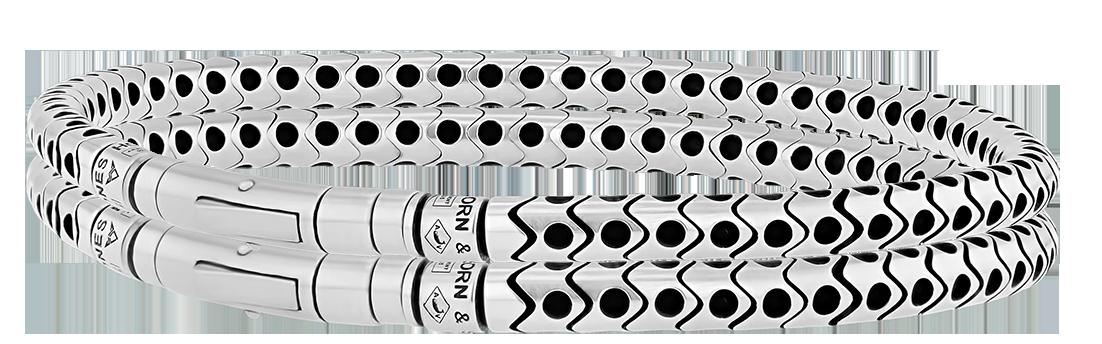 Bracelet Homme en Argent - Flex Perforé 4mm