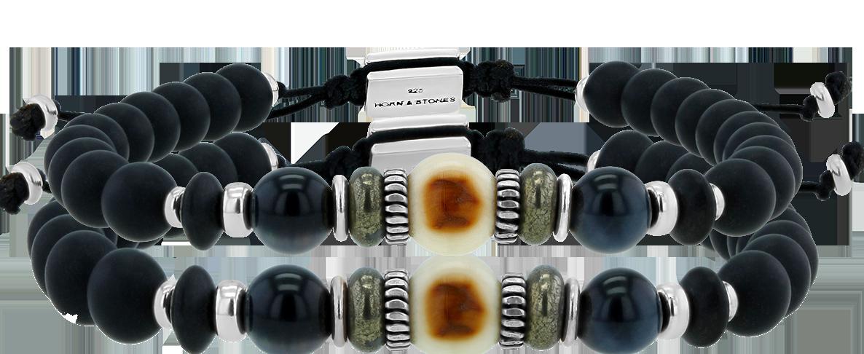Bracelet Ivoire de Mammouth - Solo Couleur (Ajustable)