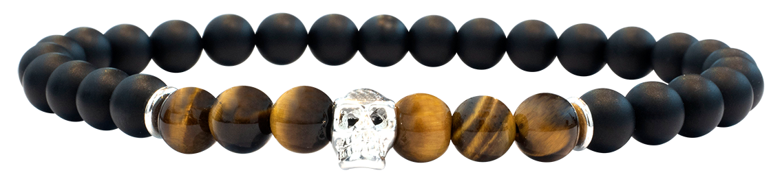 Skull Oeil de Tigre 6mm