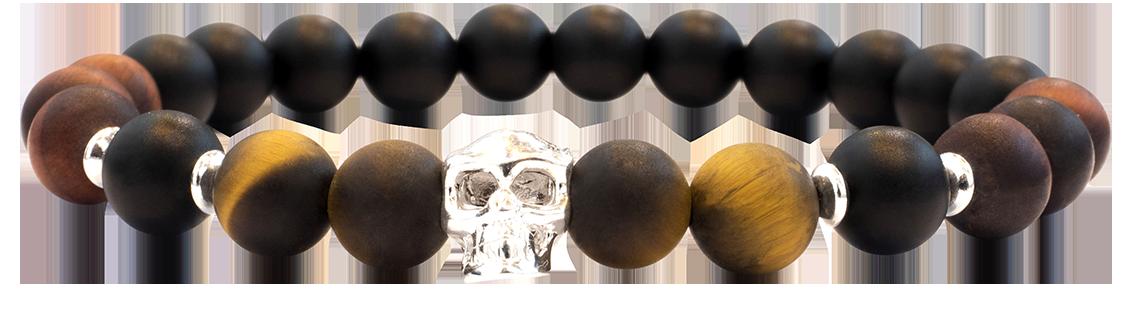 Skull Tigre et Taureau Mat 8mm