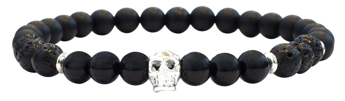 Skull Black Lave 6mm