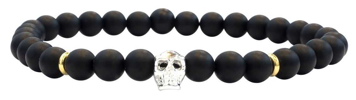 Skull Black Vermeil 6mm