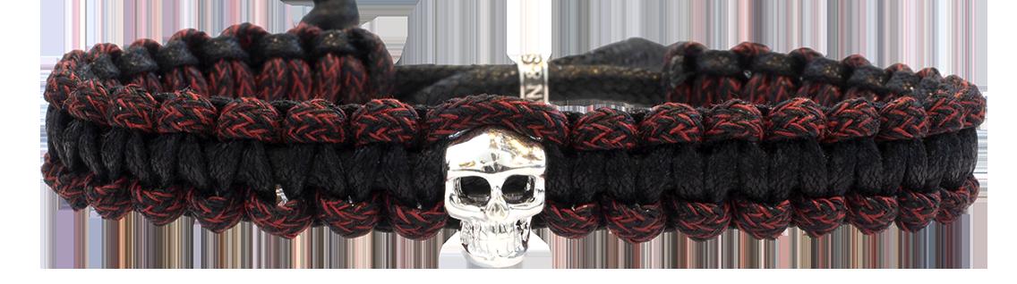 Skull Macramé Rouge