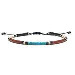 Bracelet-Homme-Pueblo-Turquoise-Kingmam-Pipestone-3mm