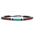 Bracelet-Homme-Pueblo-Turquoise-Kingmam-Pipestone-4mm